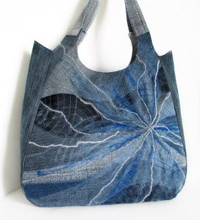 Bag from denim; denim art; #denim #jeans, #fromoldjeans