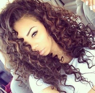 Pretty spiral curls