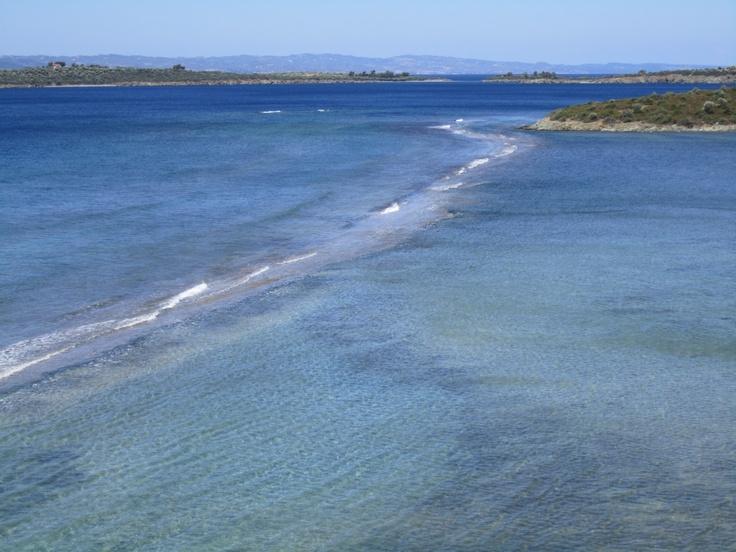 Two seas meet each other! Sithonia Greece