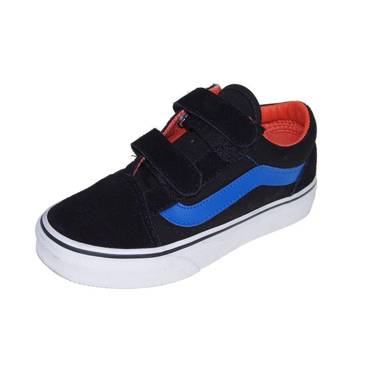 VANS Kinderschuhe Sneaker - K Old Skool V - black strong blue Wie immer bei shoedeal im Preis reduziert!