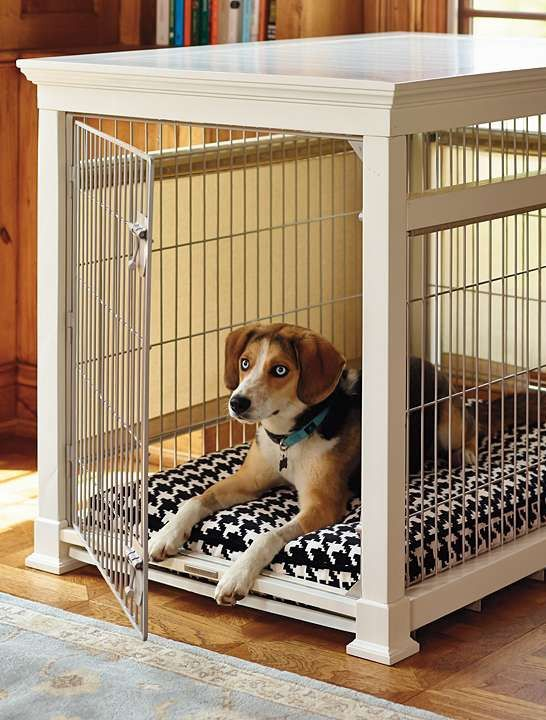providing your pet with ultimate comfort and your home with handsome style the luxury white - Decorative Dog Crates