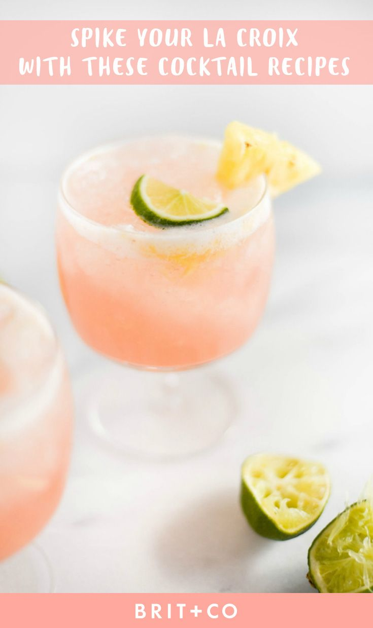 Spike your cans of sparkling water + cool off with these La Croix cocktail recipes.