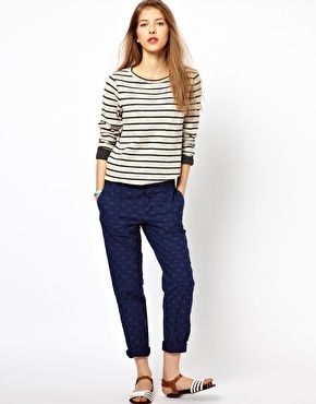 Paul by Paul Smith Tailored Pants in Polka Dot Twill