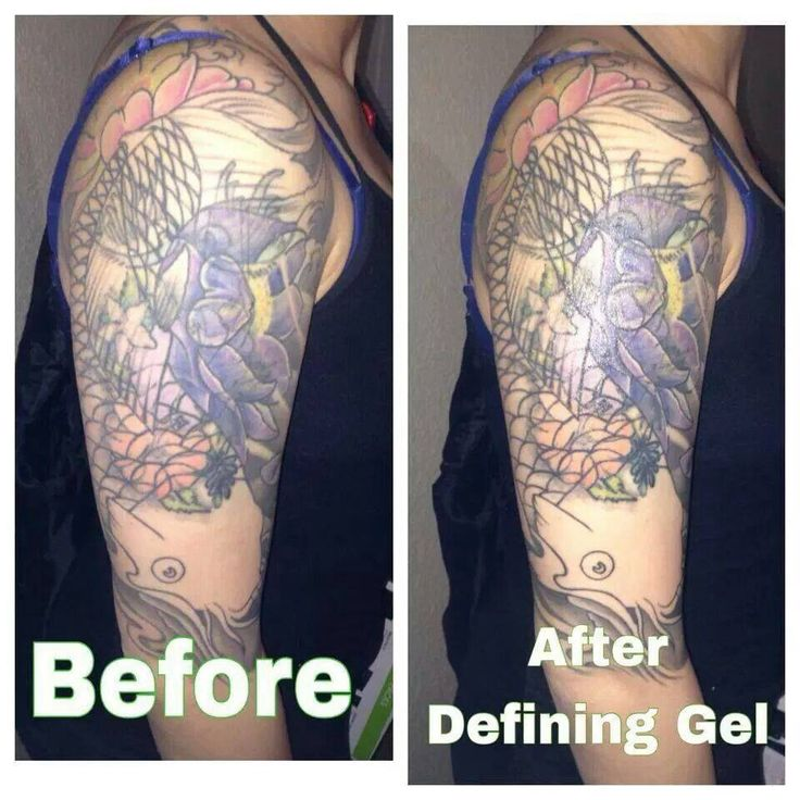 Defining gel does wonders on old and faded tattoos www for Defining skin tattoo