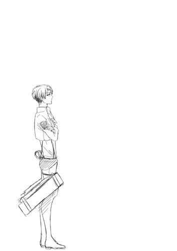 eren x levi gif  not mine but maybe one of the cutest gif I've ever seen  I love how he kicks him and then pets him ^^