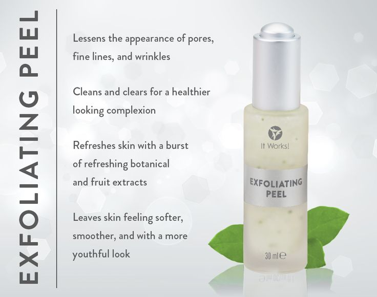 Exfoliating Peel- cleans and clears for healthier looking complexion
