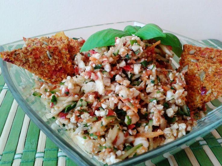 """Éltető ételek: Avokádós színes """"rizs""""saláta"""