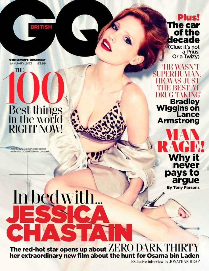 Jessica Chastain - GQ Magazine Cover [United Kingdom] (January 2013)