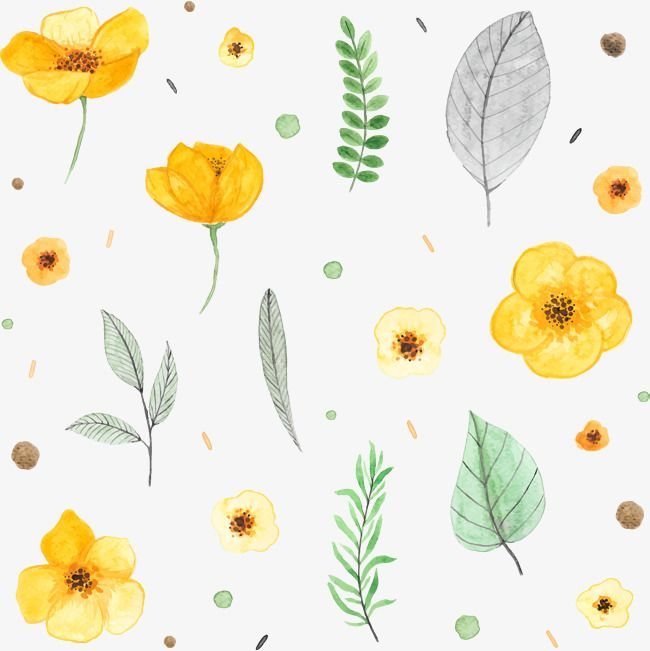 Vector Hand Painted Flowers Vector Hand Painted Watercolor Png