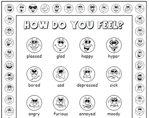 Feelings lesson plan for adults