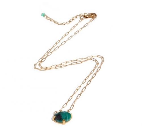 Emerald Necklace Gold