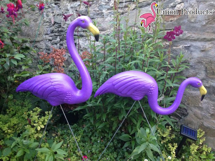 PAIR New Genuine Don Featherstone PURPLE Plastic Lawn ...