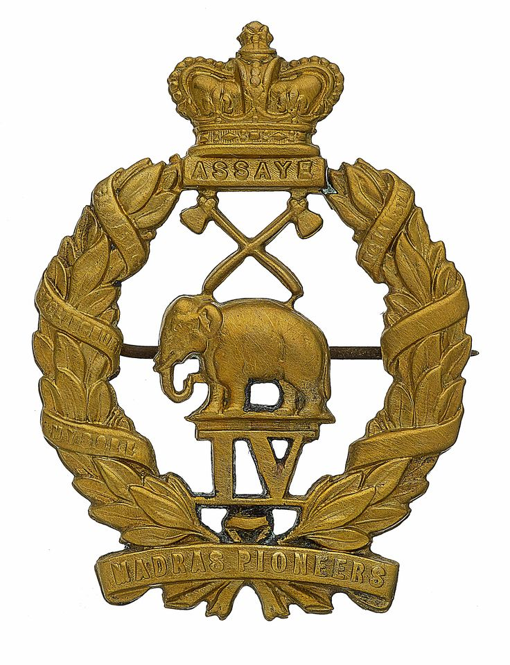British; 4th Madras Pioneers, Officer's pagri badge c.1883-1903.
