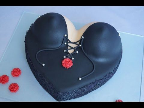 Corsagetorte in Lackoptik / Dessus Dessous Torte / Busentorte / Boops Cake / Fondant Cake / Motivtor - YouTube