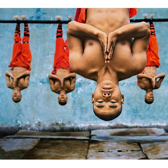 by natgeo: Photo taken by @stevemccurryofficial // The world famous Shaolin Monastery is known to many in the West for its association with martial arts, specifically Shaolin Kung Fu. The physical strength and dexterity displayed by the monks is incredible, although they exude a deep serenity.