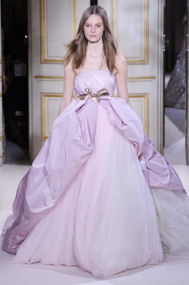 Blushing bride: Giambattista Valli haute couture spring 2013.  Bridal trends from Paris Couture gallery - Vogue Australia