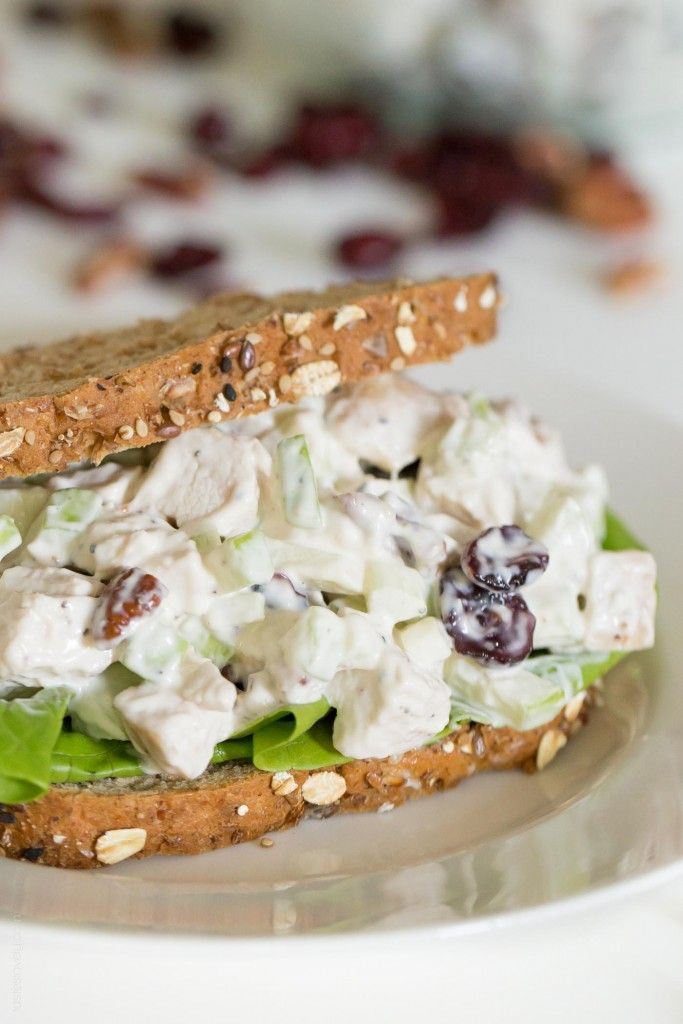 Fall Chicken Salad with Apples, Cranberries and Pecans ...