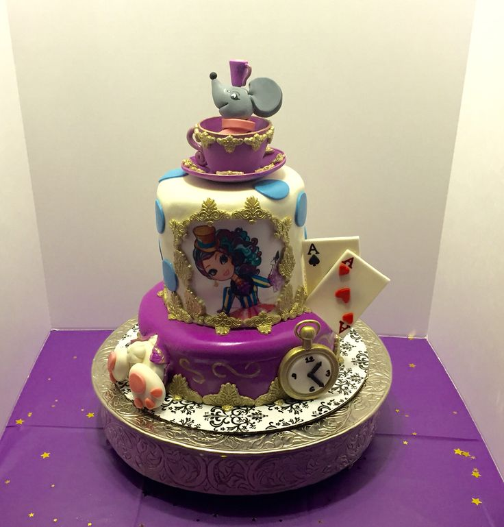 Ever After High Maddie Hatter cake