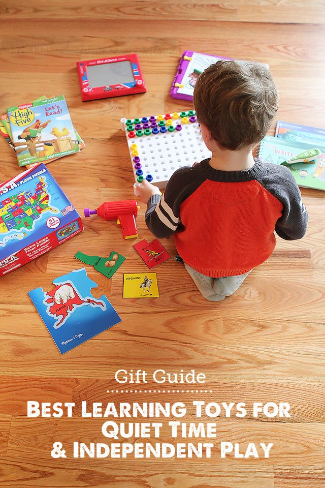 Gift Guide: Best Learning Toys for Quiet Time - LOVE this list for getting stuff done or one-on-one time with siblings!: