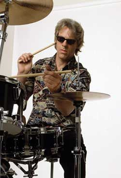 "Stewart Copeland - I bumped into him once on Melrose Ave in Hollywood. I looked up at him and said, ""Stewart Copeland!"" He looked down and said, ""Drummer!"" I said, ""How did you know?"" He said ""Nobody else knows who the hell I am!"""