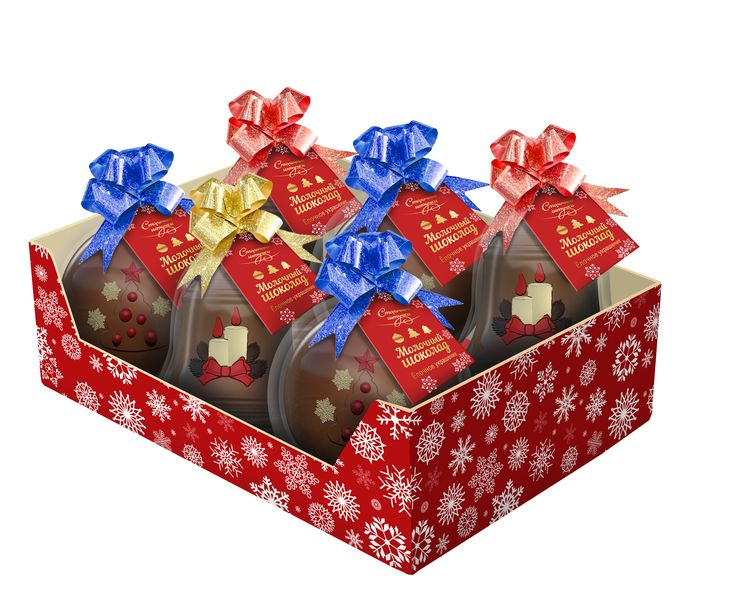 """Шоколадные елочные украшения : Шоколад молочный фигурный """"Елочное украшение"""""""