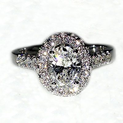 'Halo' Engagement Ring - Oval Diamond - Diamond Imports