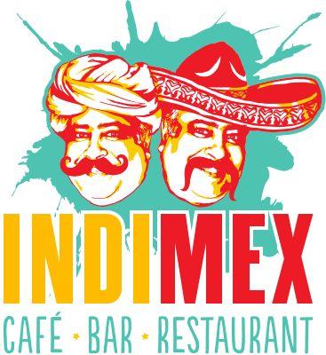 IndiMex Cafe Bar Restaurant ... the fun logo featuring the great man himself, Chef Gurinderjit Singh!