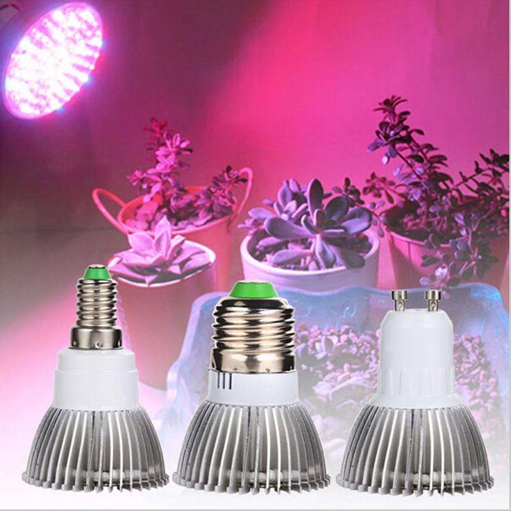 18W Led Grow Light AC85-265V E27 E14 GU10 Red/Blue 18 Leds Hydroponic LED Plant Indor Grow Lights LED Bulb LED Growth Lamp