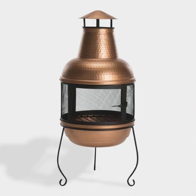 Copper Hammered Metal Chiminea | World Market