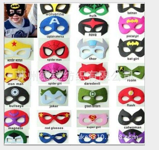 10 ШТ. Marvel Superhero звездные войны Костюм Супермен Человек-Паук Шмель маска для Девушки Дети Партия подарок на день рождения рождество хэллоуин