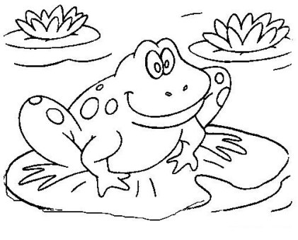 colouring pages for kids printable  frog coloring pages