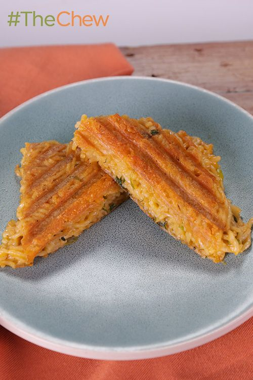 Jonathan Sawyer shows you how to create a cheesy Grilled Ramen and Cheese that your kids will love! #TheChew