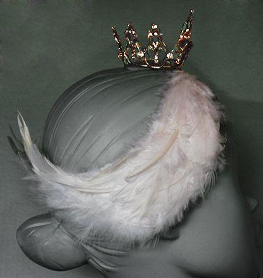 Swan Lake White Swan Odette Custom Headpiece, Black Dog Designs Tiara Gallery