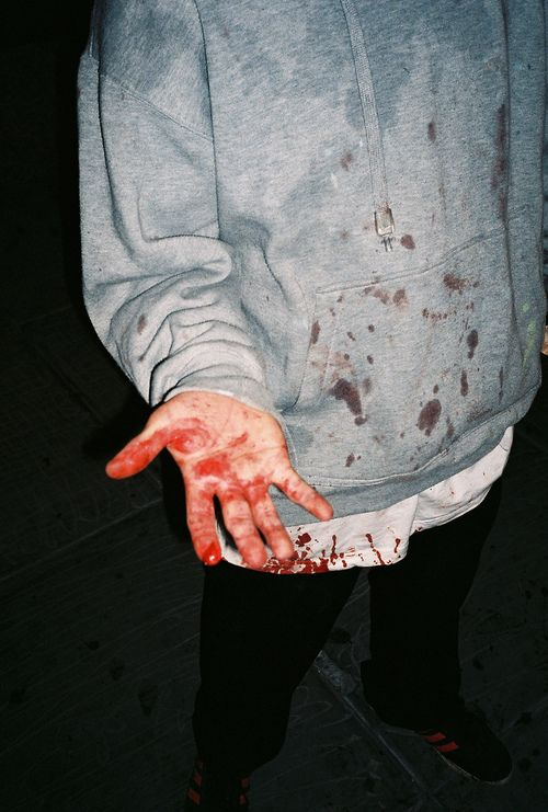 {open: david} [TW : BLOOD / PAIN] Well..i wasn't inside the school this time.. I was on the roof. I had gotten a new phone. But it still had all the old messages. I decided to make myself sad and read through them again. And then..bam..wall. No more phone. I look down at my hand. Huh. Blood. That's a new one. I sit on the roof, swinging my legs, isn't it easy to just.. I hear a voice and look up