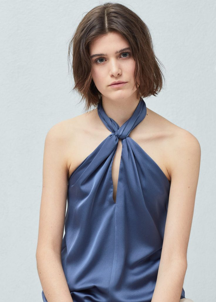 Satin top - Shirts for Women | MANGO USA