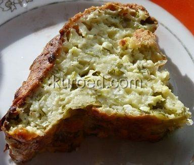 Кабачково-творожный  пирог с  зеленью