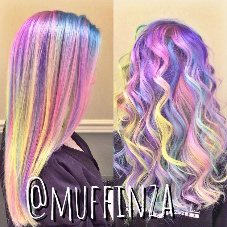 *Hair of Many Colours* We're completely in love with these #rainbow locks done by Blanche Macdonald Pro #Hair grad, Aaron Brousseau! His fabulous eye for colour placement and hue is what makes his hair creations totally awesome and completely unique… especially when he uses the amazing #Pravana colour line!