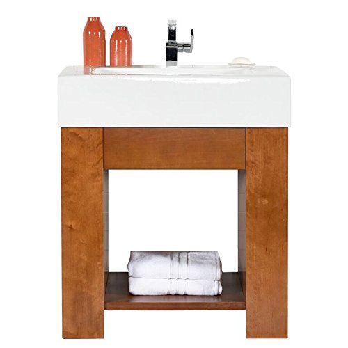 Maykke Solis Contemporary Bathroom Vanity Set With Glass Vessel