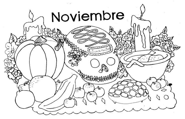 Dibujos para colorear, Dia de muertos II | Mamas y Bebes Blog: