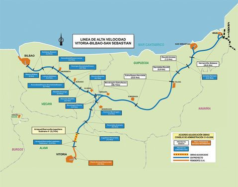 Basque Country high-speed rail network