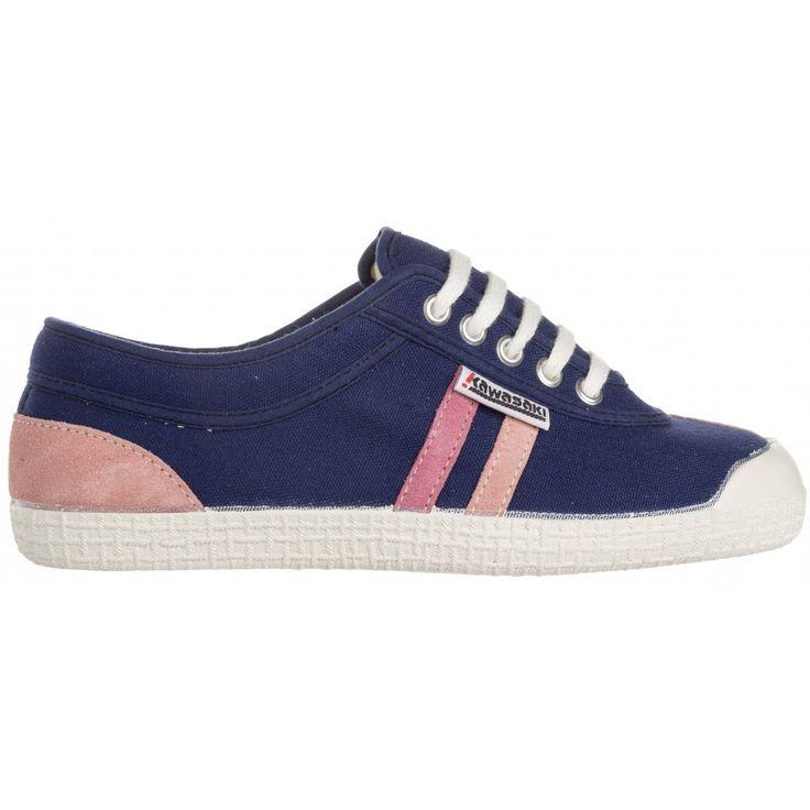 Zapatillas Kawasaki Retro Seasonal Navy-Rosa #zapatillas #sneakers #moda #verano #lona