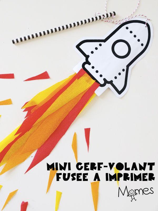 Ne sous-estimez pas le pouvoir de ces petits cerf-volants ! On imprime, on décore la fusée, on l'attache à un bâton et c'est parti pour le décollage ! Un coloriage-bricolage avec lequel les enfants pourront jouer.