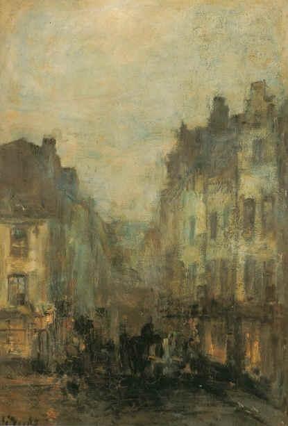 La Rue Sainte-Catherine, Guillaume Vogels. Belgian (1836 - 1896)