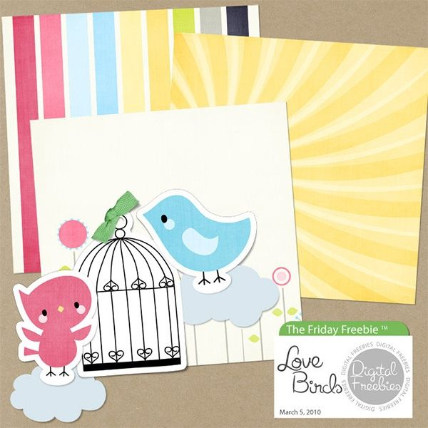 Love Birds - Digital Scrapbooking Freebie