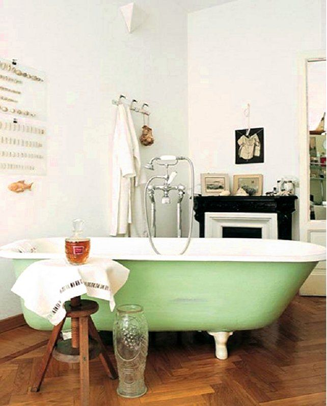 Gallery For Photographers Because we could all use a mint green claw foot tub in our dream bathroom
