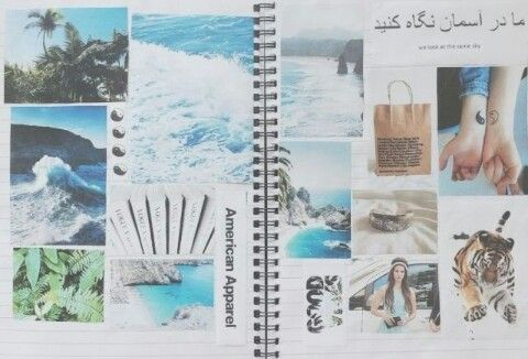 Tumblr notebook collages.