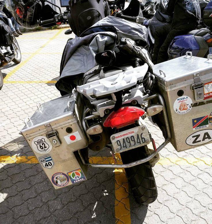 Verbazingwekkend. Deze Amerikaan uit Californië deed de Noordkaap en rijdt en vaart nu via Griekenland naar Kaapstad. Nog vijf maanden te gaan. Wow! #wereldreiziger #noordkaap #visitnorway #capetown