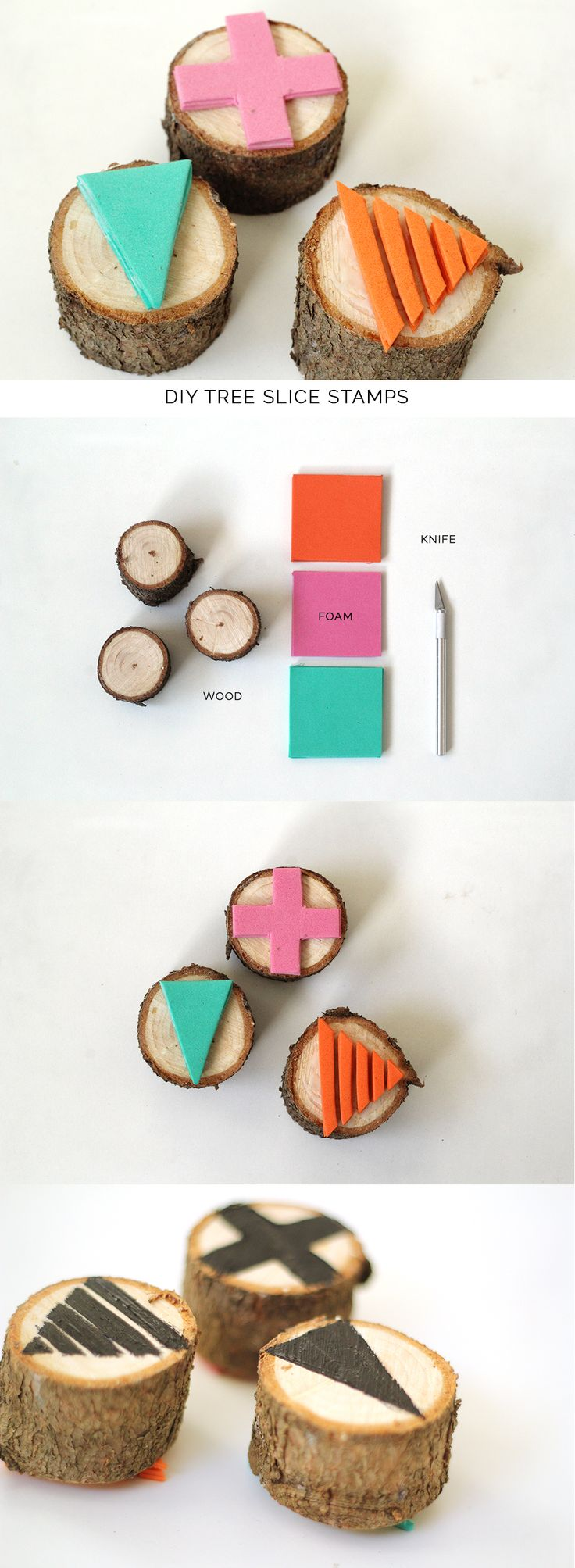 DIY tree slice stamp