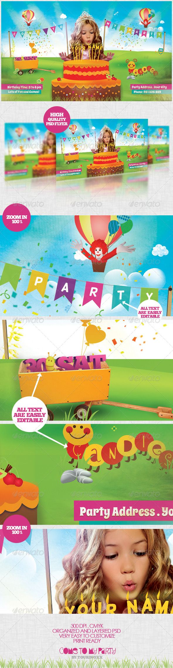 best images about print templates fonts come to my party flyer template