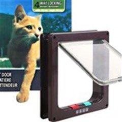Big Cat Lockable 4-Way Locking Cat Flap with Door Liner Pet Safe Product for Pets - Transparent Flap
